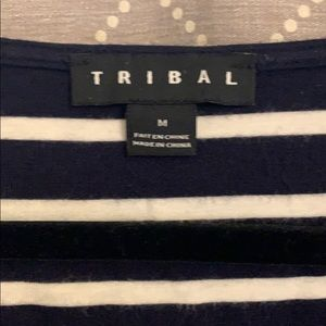 Tribal Tops - Tribal chambray and stripes top